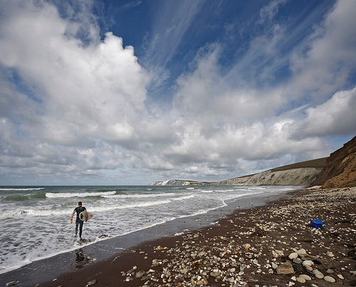 """I am just going in for a surf and may be some time"" Isle of Wight Surfer – Ian Pacey"