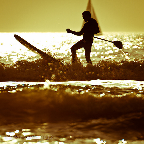 Play that Funky SUP – Stand up paddle surfing on the Isle of Wight