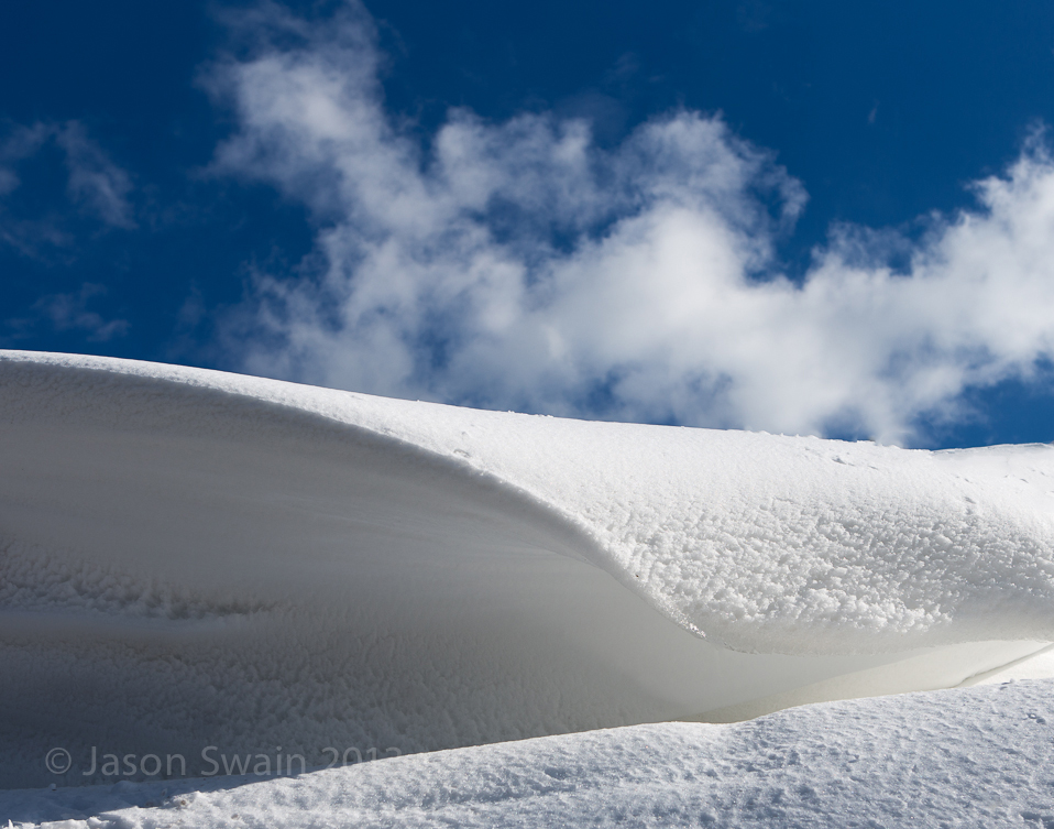 Snow Waves on the Isle of Wight.