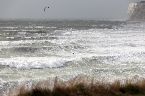 Wild Wight Water – Kite-surfing at Freshwater Bay