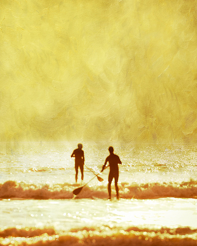On golden pond ( SUP on the Isle of Wight )