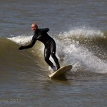 Paul Blackley making the most of the small waves