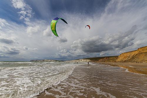 Kitesurfing photo gallery – Compton Bay, Isle of Wight.