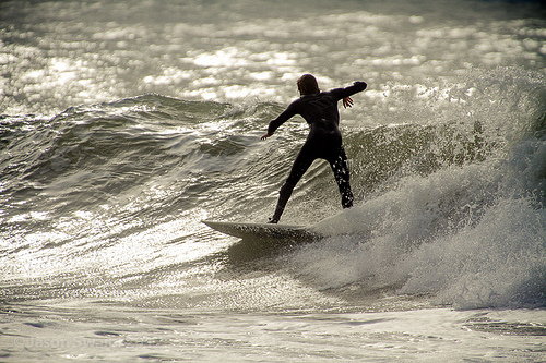 Bokeh Surfing on the Isle of Wight
