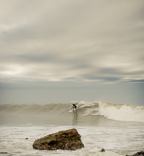 Cold water surfing – Between a rock and a cold place