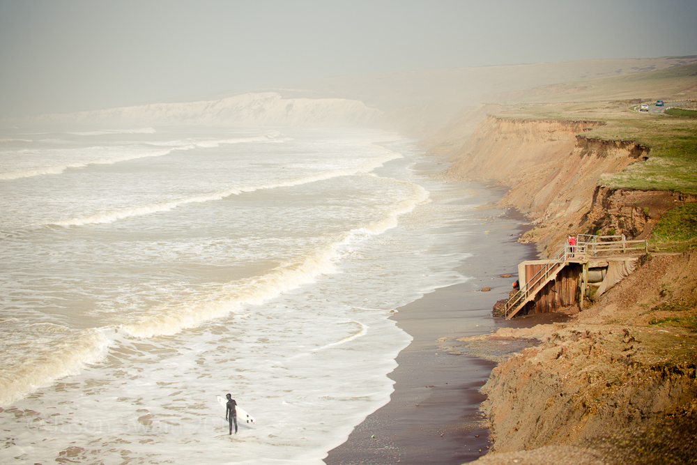 The last swell of a long Winter on the Isle of Wight?