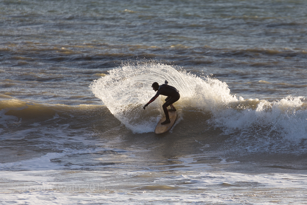 Low tide surfing at Freshwater Bay