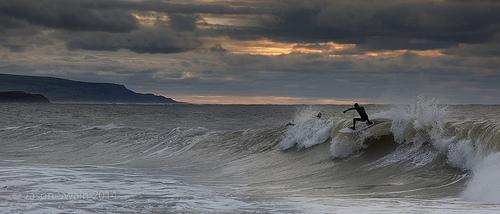 Freshwater Bay Surfing Panorama